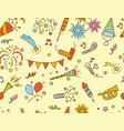 handdrawn party celebration doodle pattern vector image vector image