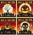 Happy Halloween card background Flat design kids vector image vector image