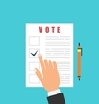 Human and Ballot Papers Election and Voting vector image