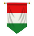 hungary pennant vector image vector image