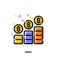 icon income growth chart or financial report graph vector image vector image