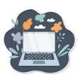 laptop with copy-space screen cartoon vector image vector image