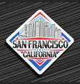 logo for san francisco vector image vector image