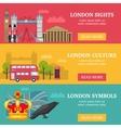 London Banner Set vector image