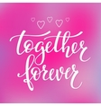 Love Valentines Day quote typography vector image