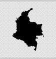 map colombia isolated black vector image