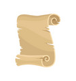 old paper scroll parchment manuscript vector image
