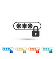 password protection with lock icon isolated vector image vector image