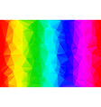 rainbow low poly background vector image