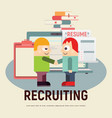 recruitment concept vector image vector image