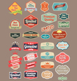 Retro design label vector image