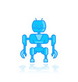 robot on white vector image vector image