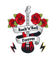 rock-n-roll forever guitar vector image vector image