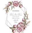 rose delicate abstract frame wedding vector image vector image