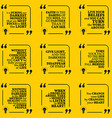 Set of motivational quotes about darkness light vector image vector image