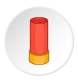 Shotgun shell icon cartoon style vector image vector image