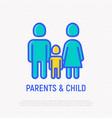silhouette of family man woman and child vector image vector image