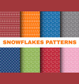 simple christmas patterns with snowflakes on vector image vector image