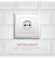 socket on wall vector image