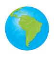 textured globe vector image