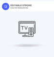 tv monitor icon filled flat sign solid vector image vector image