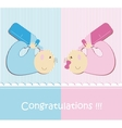 Twin Baby Boy And Girl vector image vector image