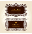 vintage frames labels vector decor vector image vector image