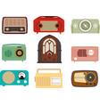 vintage radio set vector image