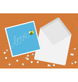 White Opened Blank Envelope letter and greeting vector image