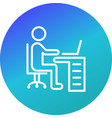 workspace icon vector image vector image
