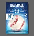 baseball poster banner advertising sport vector image