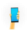black smartphone in hand vector image