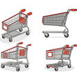 Shopping Cart or Trolley from Several Positions vector image