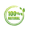 100 natural product white background vector image vector image