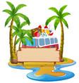 a summer beach banner vector image