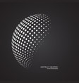 abstract globe dotted sphere 3d halftone dot vector image