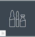 ampoule and vial related line icon set vector image vector image