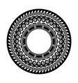 ancient greek round mandala tattoo art vector image vector image