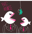 Angry business-fishes vector image