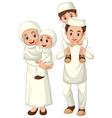 arab muslim family in traditional clothing