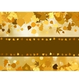 Autumn with colored leaves on bokeh effect EPS 8 vector image