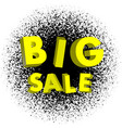 big sale yellow color 3d on an abstract vector image