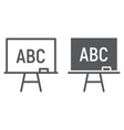 blackboard line and glyph icon school and vector image vector image