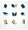 book icon set vector image vector image