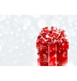 Christmas gift in snow vector image