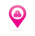 church map pointer icon marker gps location flag vector image vector image