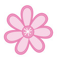 color sketch with pink flower vector image