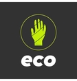 eco hand in circle vector image vector image