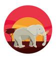 elephant animal in landscape