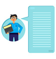 Employee with notebook vector image